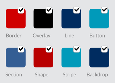Choose layout colors for your RelayThat project.