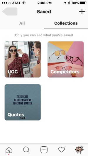 Create collections that help you streamline marketing tasks on Instagram.