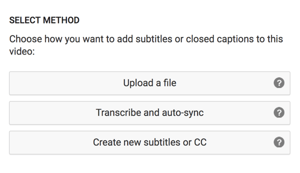 Choose the option to upload your translated captions file.