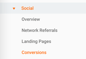 Go to Social > Conversions in Google Analytics to view conversion data.