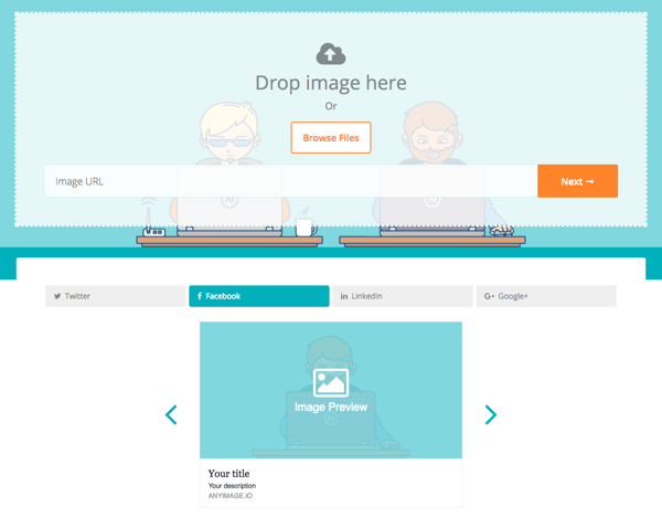 Use AnyImage para personalizar qué gráficos se muestran en redes sociales.