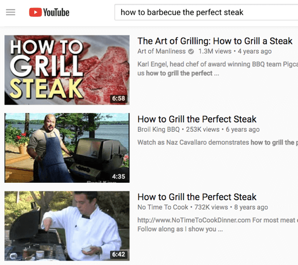 If you have a grilling product, target people through ads on videos that relate to barbecue.