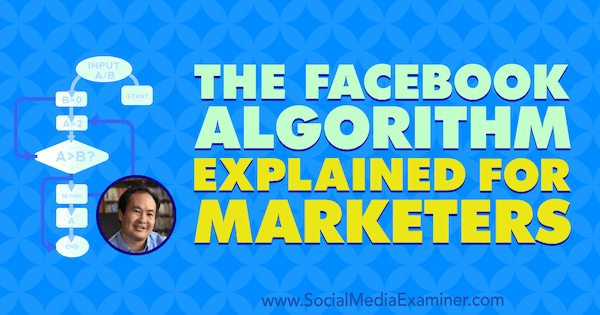 The Facebook Algorithm Explained for Marketers featuring insights from Dennis Yu on the Social Media Marketing Podcast.