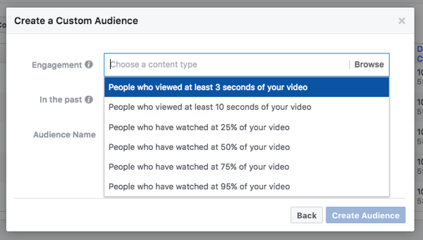 Target people by how much of your video they've watched.