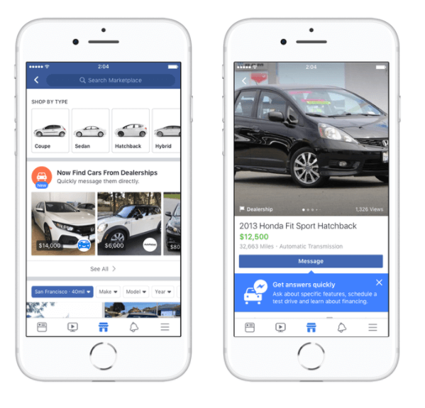 Facebook Marketplace is partnering with auto industry leaders Edmunds, Cars.com, Auction123, and more to make car buying easier for shoppers in the U.S.