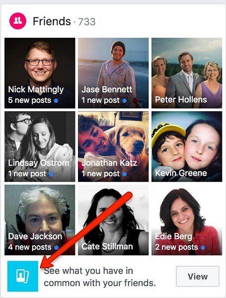 Facebook is currently experimenting with a new feature that highlights the details you have in common with mutual friends.