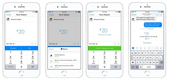 Facebook Messenger and PayPal integrate in-app peer-to-peer payments in the U.S.
