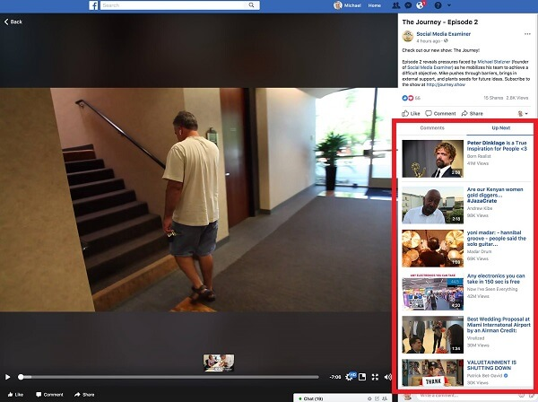 Facebook appears to have given videos on the desktop a more Watch-like feel with separate tabs for