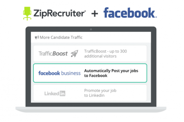 Facebook integrates ZipRecruiter listings into jobs bookmark on the platform.