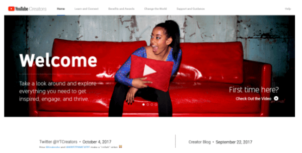 YouTube introduced a newly designed website for the YouTube Creators program.