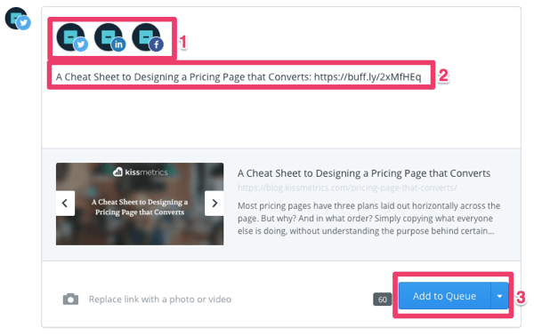 Compose a tweet on the Buffer Content tab.