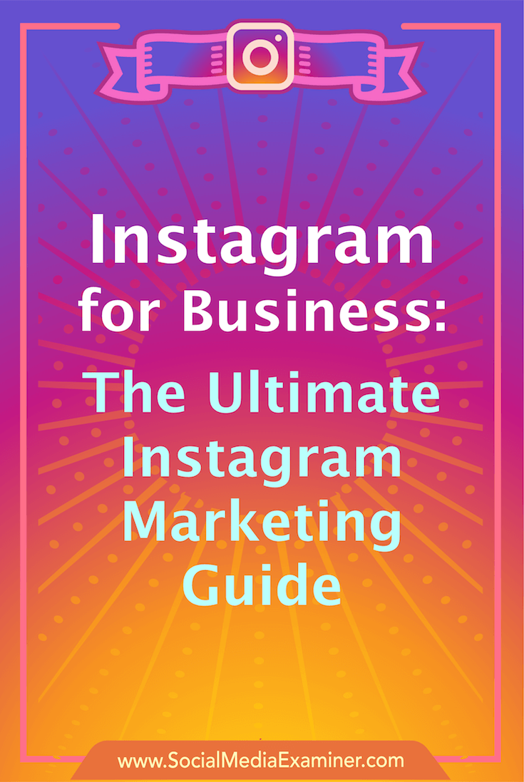 Articles to help beginner, intermediate & advanced marketers use Instagram profiles, stories, live video, ads, analysis, contests, and more for business.
