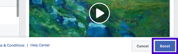 The last step is to submit your boosted post for review.