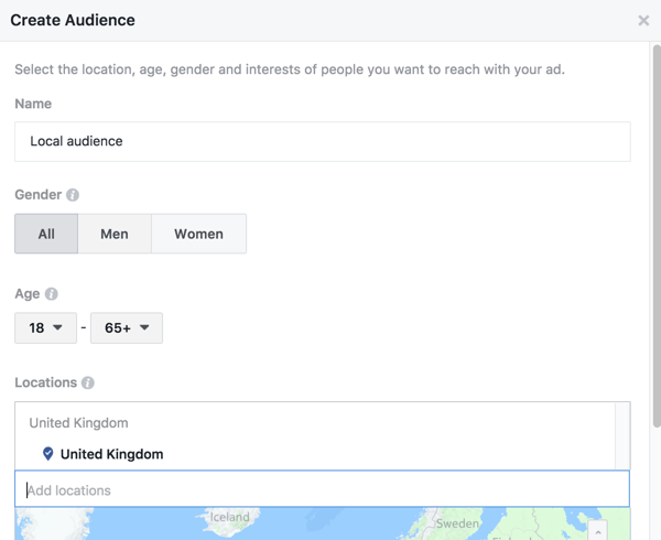 Facebook allows you to target a boosted post to specific locations.