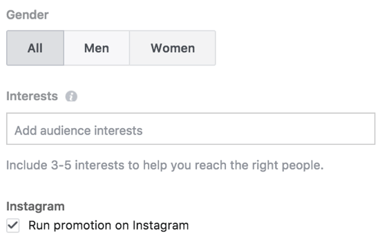 Choose whether you want your local business promotion to appear on Instagram.