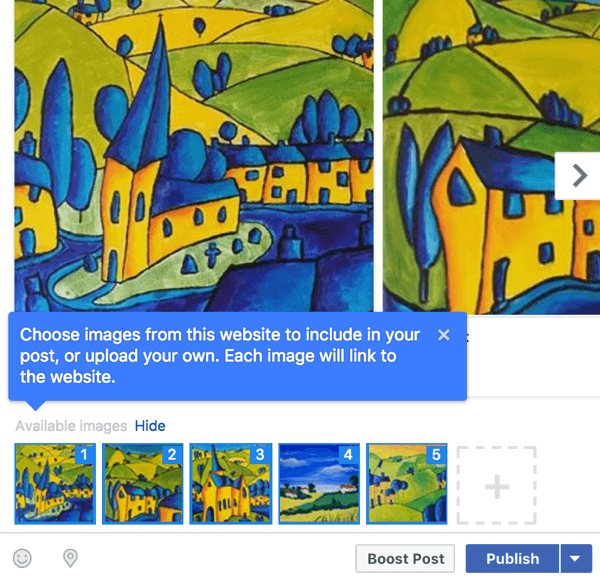 Creating a Facebook carousel post allows you to tell a story or showcase your products or services.