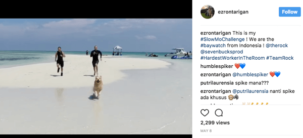 Thousands of people entered The Rock's #slowmochallenge contest by posting their own take on Baywatch's iconic slow-motion shots.