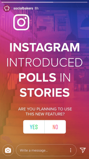 @socialbakers asks for input on the new polling feature.