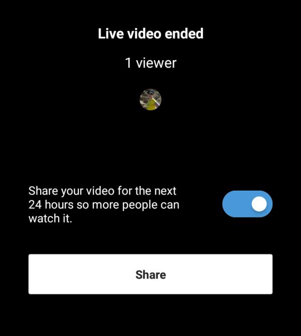 Je kunt je video 24 uur lang delen met je verhaal.