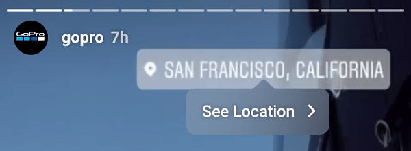 Location stickers can help brands promote a specific location.