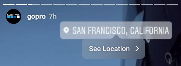 Met locatiestickers kunnen merken een specifieke locatie promoten.