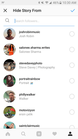 You can block specific Instagram followers from seeing your stories.