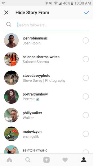 U kunt voorkomen dat bepaalde Instagram-volgers uw verhalen zien.