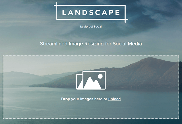 Crop and resize images with Landscape by Sprout Social.