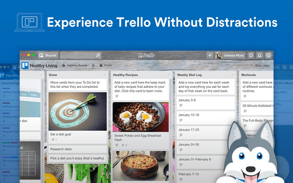 Get Trello for desktop on Mac and Windows.