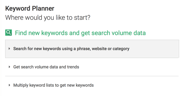 Use Google Keyword Planner to search for keywords to add to your video description.