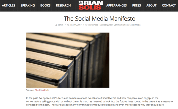 When Brian saw the potential of social media, he wrote The Social Media Manifesto.