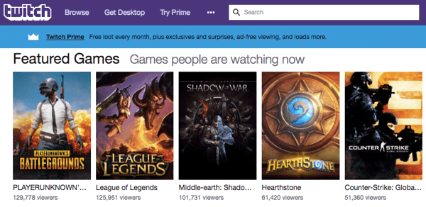 Justin.tv grew into Twitch, a livestream platform for gamers.