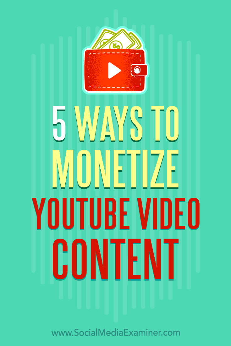 Discover five ways YouTube creators can use video sponsorships to generate supplemental revenue outside of AdSense.