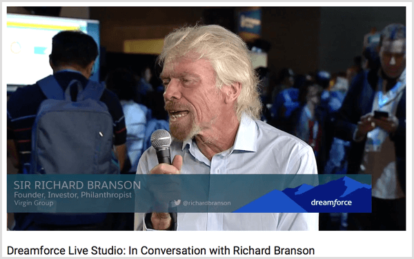 dreamforce richard branson interview example