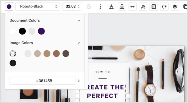Easil template colors