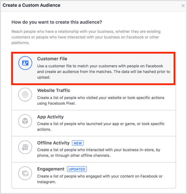 how to use custom audience in facebook