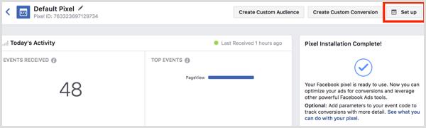 Facebook ads manager edit pixel