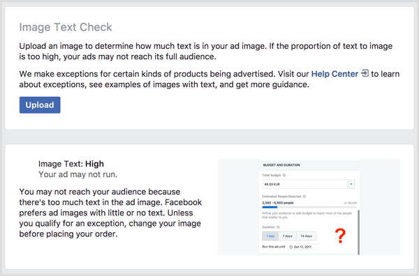 facebook image text check tool
