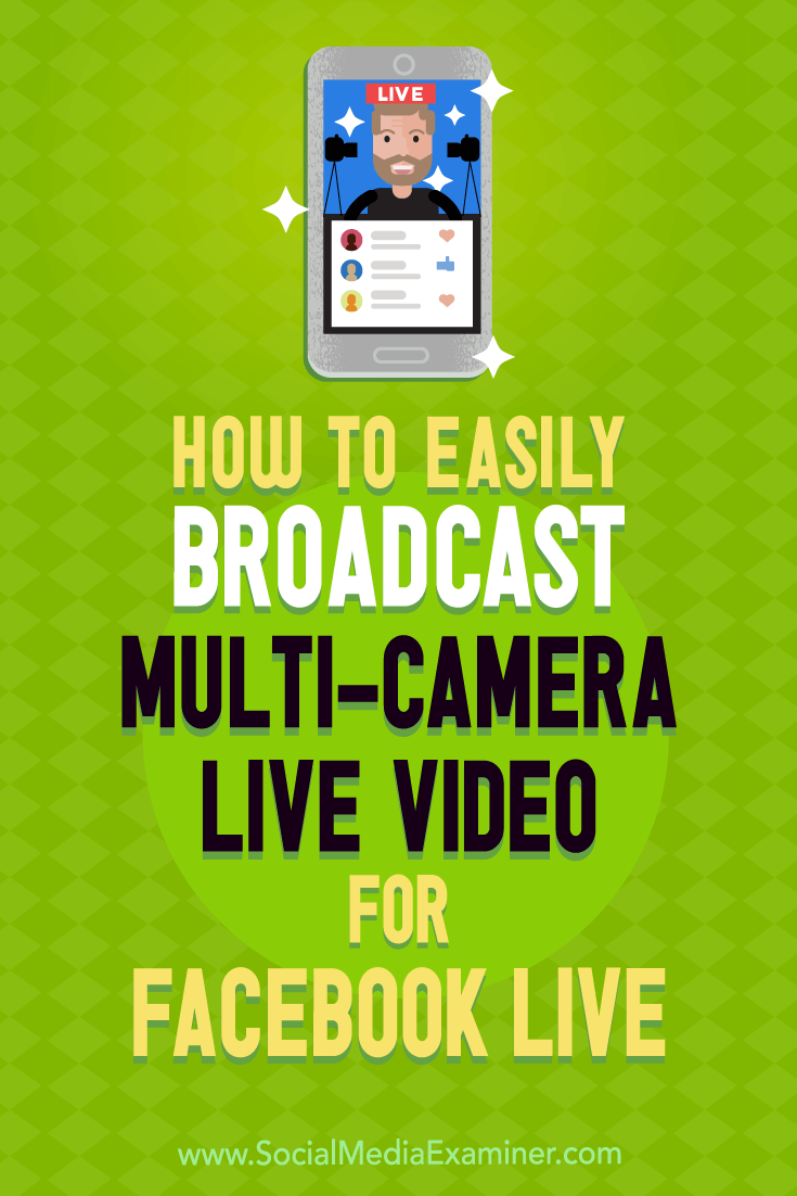 Discover how to integrate visuals and work with multiple camera angles to broadcast professional-quality live video to Facebook and YouTube.