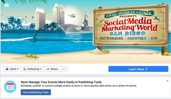 Facebook makes it easier to manage Facebook Events from a Page within Publishing Tools.