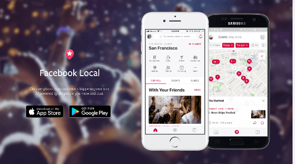 Facebook introduced Facebook Local, a new app that lets you browse all the cool things happening where you live or where you're traveling to.
