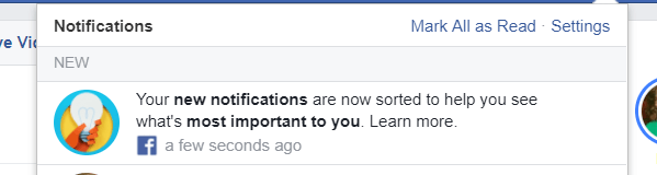 Facebook started resorting new notifications on the desktop and mobile based on what it thinks is most important to you, rather than chronological order.