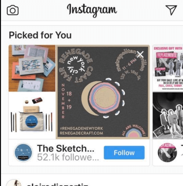 Instagram now suggests other accounts that have been