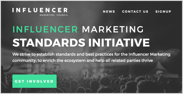 Influencer Marketing Council standards initiative