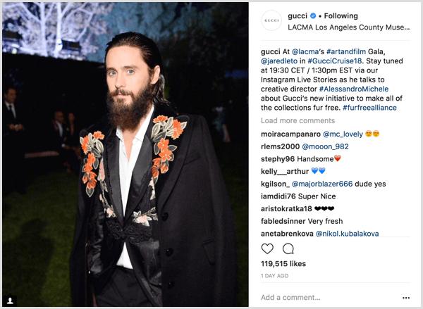 Instagram Live broadcast promotional post