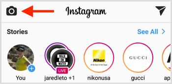 Instagram Live camera icon