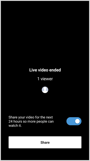 Instagram Live with Friends end and share video