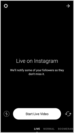 Instagram start live video