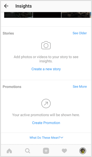 Instagram Stories analytics