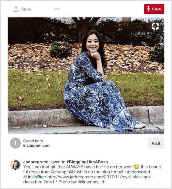 sponsored content Pinterest